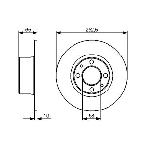FRONT SOLID BRAKE DISC - 278MM DIAMETER