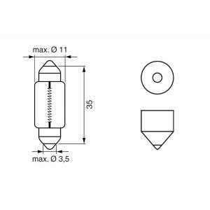 12V (10W8V8.5S 272) BULB