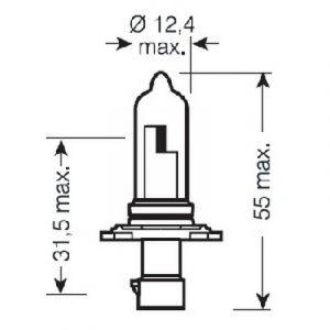12V 60W HEADLAMP BULB HB3A