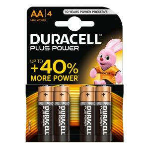 DURACELL PLUS BATTERY AA 4PK