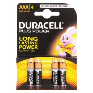 DURACELL PLUS BATTERY AAA 4PK