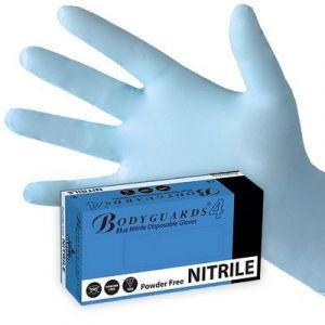 BLUE NITRILE POWDER FREE GLOVES MEDIUM - X 100
