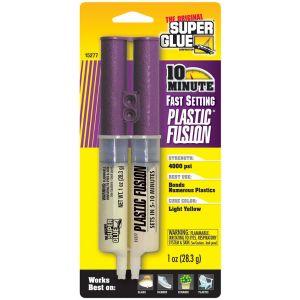 SUPER GLUE FAST SETTING PLASTIC FUSION - 1OZ