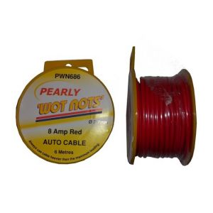 SINGLE CABLE RED 8A - 6M - 6M