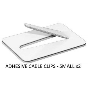 ADHESIVE CABLE CLIPS SMALL - X 2