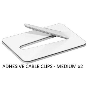 ADHESIVE CABLE CLIPS MEDIUM - X 2