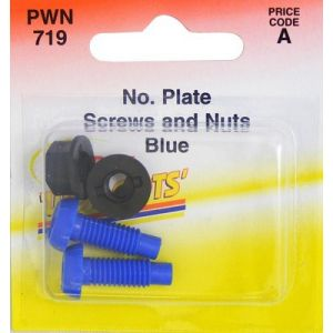 SCREW AND NUTS - BLUE - X 2
