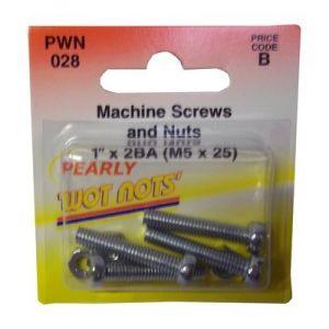 MACHINE SCREW AND NUT - 2BA X 1 - X 4