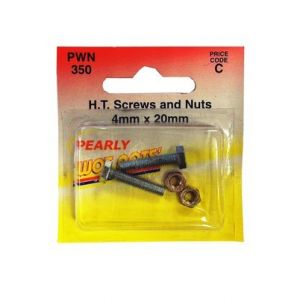 SET SCREW AND NUT - M4 X 20MM - X 2