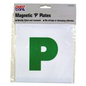 P PLATE MAGNETIC GREEN - X 2