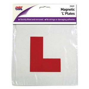 L PLATE MAGNETIC RED - X 2