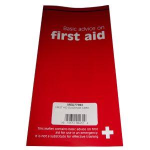 FIRST AID GUIDANCE CARD