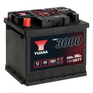077 3000 Series Car Battery - 4 Year Warranty