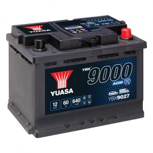 027 9000 Series AGM Car Battery - 4 Year Warranty