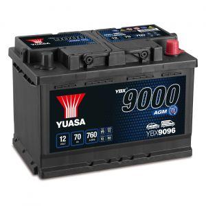 096 9000 Series AGM Car Battery - 4 Year Warranty
