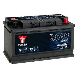 115 9000 Series AGM Car Battery - 4 Year Warranty