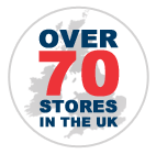 Over 70 Stores in the UK